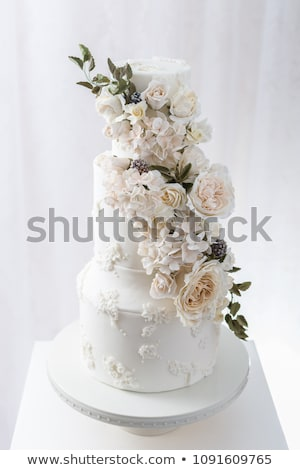 Elegant wedding cake Stock photo © gsermek