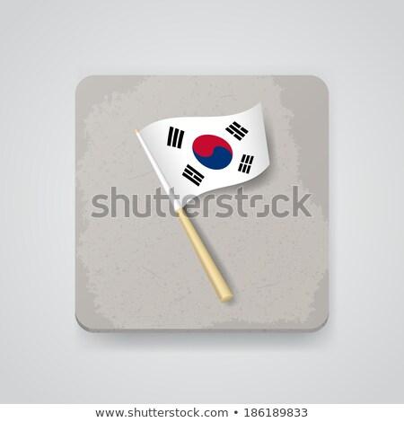 Northern Korea Flag Icon Stock photo © zeffss