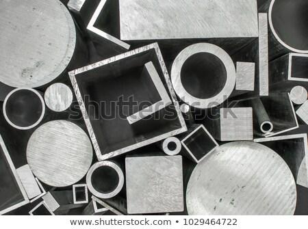 Roestvrij staal producten monochroom afbeelding onderdelen metaal Stockfoto © Stocksnapper