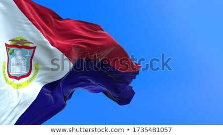 Flag Of Saint Martin Сток-фото © Myvector