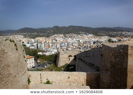 Panoramic view of Eivissa center. Ibiza, Spain Stock photo © amok