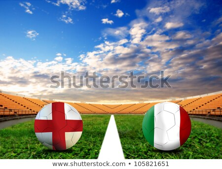 Engeland vs Italië groep fase wedstrijd Stockfoto © smocker03