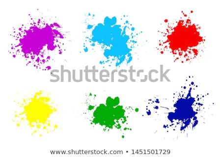 Magenta pintura Splash aislado blanco color Foto stock © kubais
