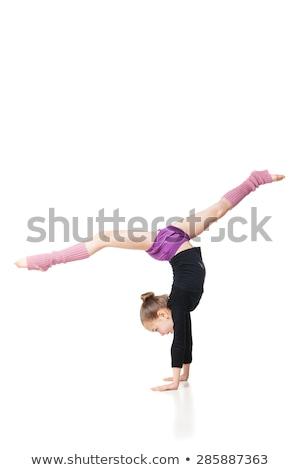 Kadın bacaklar mor tozluk beyaz kız Stok fotoğraf © amok