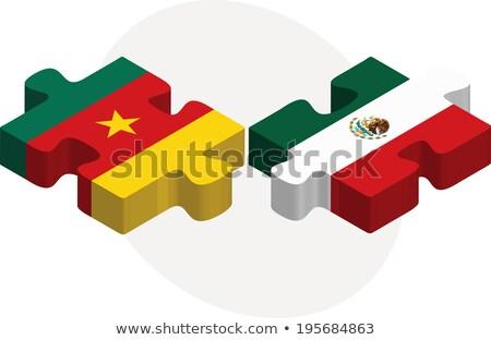Камерун · флаг · белый · аннотация · сердце · фон - Сток-фото © istanbul2009