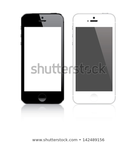 Isolated white smart phone vector EPS10 stock photo © MPFphotography