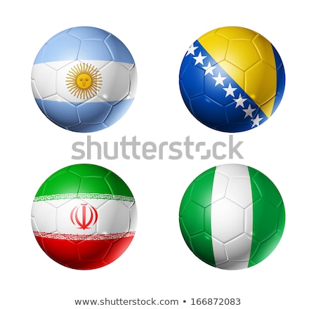 argentinian iranian bosnia herzegovinan and nigerian flags in stock photo © istanbul2009