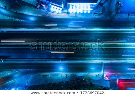 Cityscape night and traffic car lighting, Bangkok bird eye view Stock photo © FrameAngel