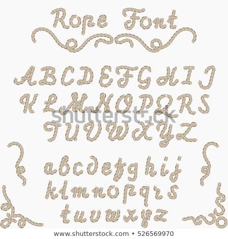 Set of latin rope-characters on white Stock photo © boroda