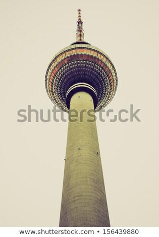 tv · torre · Berlín · famoso · alexanderplatz · Alemania - foto stock © claudiodivizia