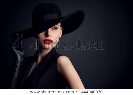 charmant · dame · hoed · roze · vector · mode - stockfoto © pugovica88