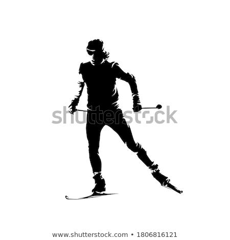 Mulher esquiador alpes montanhas naturalismo parque Foto stock © kasto