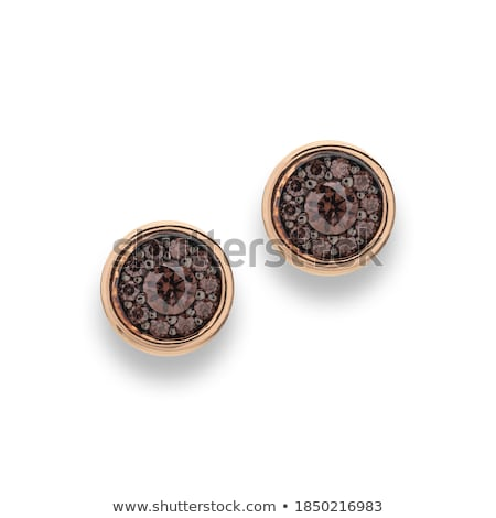Abstract macro of fashion earrings Stock photo © Lizard