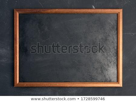 negro · giz · vetor · madeira · frame · educaçao - foto stock © tilo