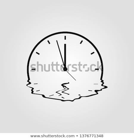 the melting clock Stock photo © flipfine