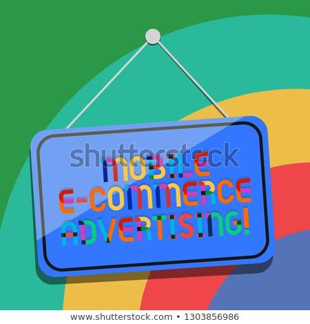 электронной коммерции поиск строку смартфон пальца кнопки Сток-фото © tashatuvango