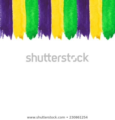 watercolor paint vector background for mardi gras stock photo © gladiolus