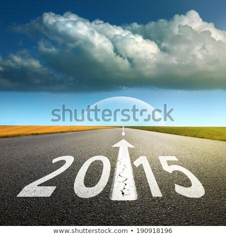 Сток-фото: 2015 · неопределенность · числа · вопросительный · знак · будущем