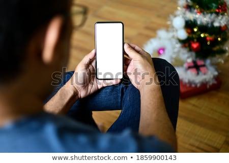 işadamı · cep · telefonu · yazı · beyaz · adam - stok fotoğraf © nyul