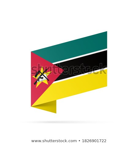Map on flag button of Republic  Mozambique Stock photo © Istanbul2009