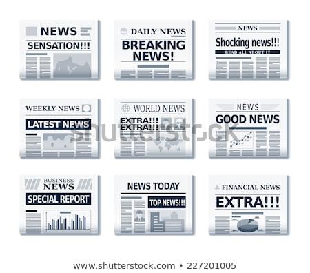 Stock fotó: újság · főcím · üzlet · pénzügy · iroda · pénz
