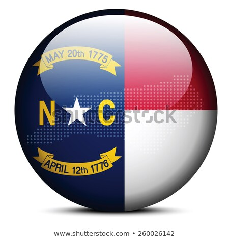 map with dot pattern on flag button of usa north carolina state stock photo © istanbul2009