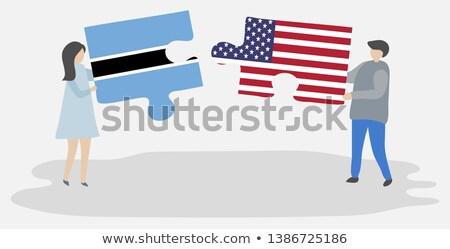 США Ботсвана флагами головоломки вектора изображение Сток-фото © Istanbul2009