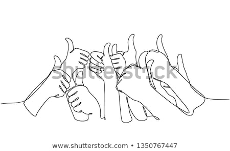 businessman giving consent, with thumb up Stock photo © alexandrenunes