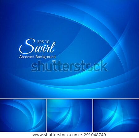 Abstract cyan blue smooth vector wavy background Stock photo © saicle