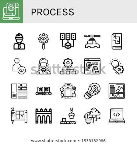 Data Management on Blueprint of Cogs. Stock photo © tashatuvango