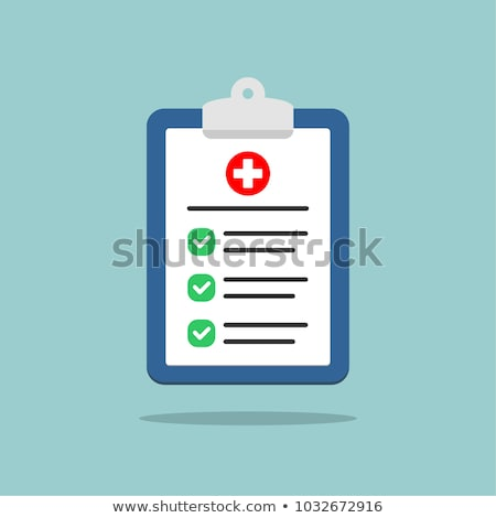 Doctor analyzing medical test results Stock photo © HASLOO