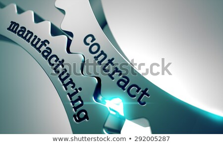 Foto stock: Contract Manufacturing On Metal Gears