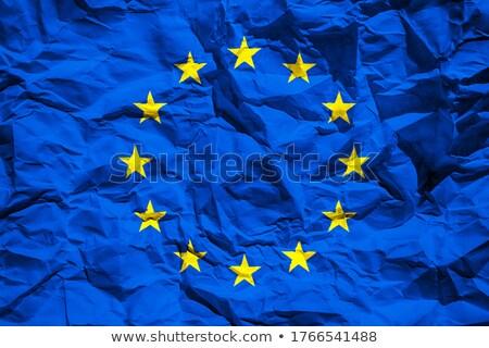 Ue bandera impresión grunge anunciante papel Foto stock © stevanovicigor