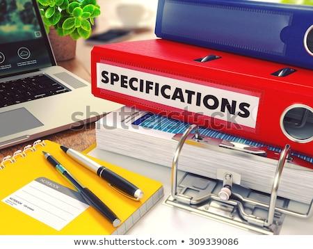 Сток-фото: красный · служба · папке · изображение · рабочих · таблице