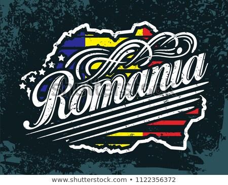 ルーマニア フラグ シャツ ビジネスマン 男 ストックフォト © fuzzbones0