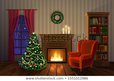 огня · камин · сжигание · дерево · горячей - Сток-фото © jaffarali