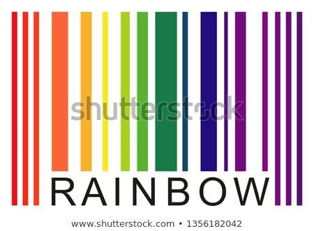 Onderwijs woord gekleurd barcode kleurrijk Blauw Stockfoto © fuzzbones0