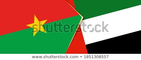 Birleşik Arap Emirlikleri Burkina bayraklar bilmece yalıtılmış beyaz Stok fotoğraf © Istanbul2009
