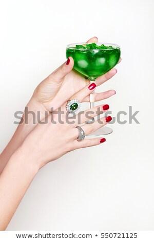 элегантность · европейский · женщину · Diamond · ювелирных - Сток-фото © dolgachov