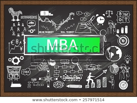 рисованной доске бизнеса администрация рабочих Сток-фото © tashatuvango