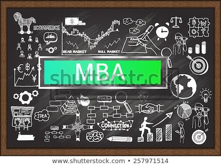 mba concept hand drawn on chalkboard stock photo © tashatuvango