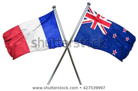 Franciaország Új-Zéland zászlók puzzle izolált fehér Stock fotó © Istanbul2009