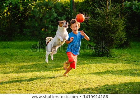 children playing with balls stock photo © phbcz