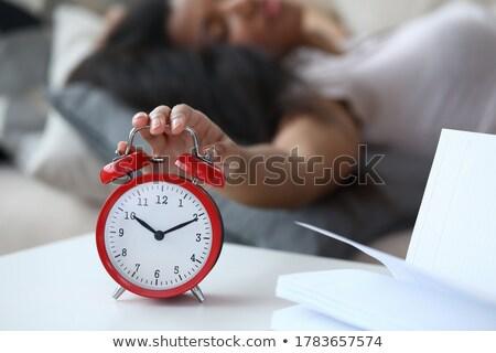 ストックフォト: 家 · 開いた本 · 目覚まし時計 · 緑の草 · ツリー · クロック