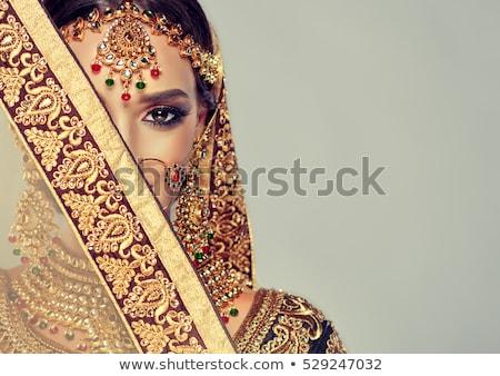 Gyönyörű lány távolkeleti jelmez portré káprázatos fiatal nő Stock fotó © svetography