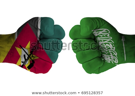 Saudi Arabia and Mozambique Flags Stock photo © Istanbul2009