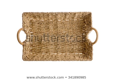 Overhead view of a wicker tray with handles Stock photo © ozgur