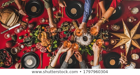 Composite image of champagne glasses clinking Stock photo © wavebreak_media