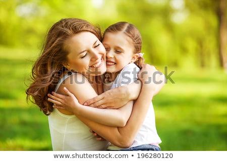 anya · gyerekek · fű · család · boldog · nap - stock fotó © Paha_L
