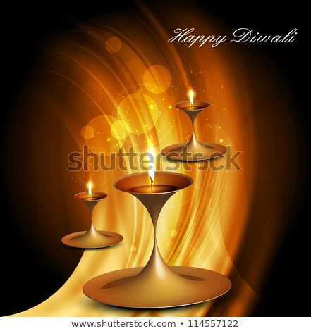 Stock photo: abstract colorful artistic diwali wave background